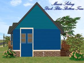 Sims 2 — Maxis Siding-Dark Blue-Bottom Trim by allison731 — Recolored Maxis siding wall + added bottom trim. Cost in