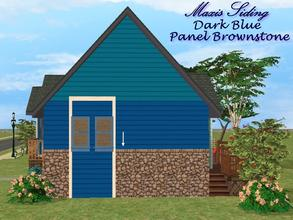 Sims 2 —  Maxis Siding-Dark Blue-Panel Brownstone by allison731 — Recolored Maxis siding wall + combined stone panel from