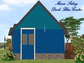 Sims 2 — Maxis Siding-Dark Blue-Center by allison731 — Recolored Maxis siding wall. Recolor made from Shiver Me Timbers
