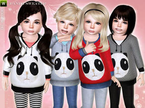 Sims 3 — Cute Panda Sweater by lillka — Panda sweater for toddler girls and boys Everyday/Formal/Outdoor recolorable/mesh