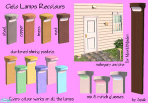 Sims 2 — Cielo Outdoor Lights - Recolour set by Spaik — A lot of recolours for the Cielo lamps. Every file recolours all