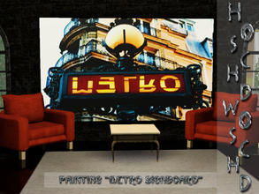 Sims 3 — Paris_paintings_Metro_signboard by hoschdwoschd2 — Painting Metro signboard pictures taken in beautiful Paris