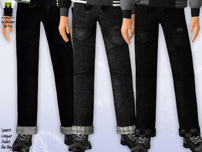 Sims 3 — Sports League Jeans for Boys by minicart — These cool and hip Sports League jeans are just the right outerwear