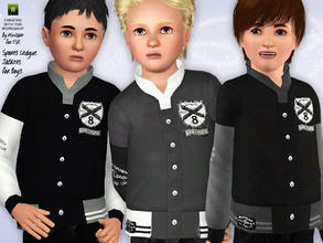 Sims 3 — Sports League Jacket for Boys by minicart — These cool and hip Sports League jackets are just the right