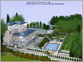 Sims 3 — Ostentatious by marcorse — Ostentatious - Mediterranean blue and white, comfortable contemporary living over
