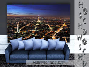 Sims 3 — Paris_paintings_skyline by hoschdwoschd2 — Painting skyline pictures taken in beautiful Paris for your sims'