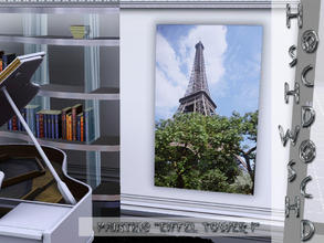 Sims 3 — Paris_paintings_Eiffel_Tower_I by hoschdwoschd2 — Painting Eiffel Tower I pictures taken in beautiful Paris for