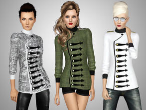 Sims 3 — Military Style Jacket by Ms_Blue — Presenting the Military Style Jacket. Military inspired jacket with 2/3