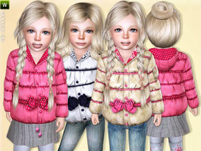 Sims 3 — Baby Girl Soft Jacket by lillka — Soft winter jacket for toddler girls. Everyday/Outdoor 4 styles/3 recolorable