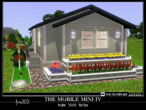 Sims 3 — Mobile Mini IV by trin3032 — A Teeny Tiny Treasure! The Mobile Mini IV is a mobile home on a 15x10 lot. 1br 1ba.