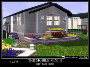 Sims 3 — Mobile Mini II by trin3032 — Perfect for college students! Two master bedrooms with dbl beds. The Mobile Mini II