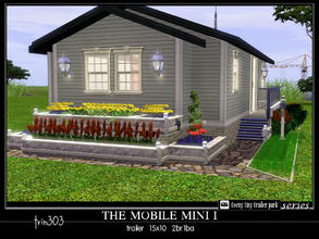 Sims 3 — Mobile Mini I by trin3032 — Perfect for single parent and child! The Mobile Mini I is a trailer home on a 15x10