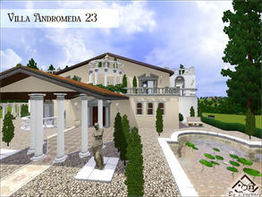 Sims 3 — Villa Andromeda 23 by Devirose — Evoking Italy of the Roman world with columns and very elegant garden. This