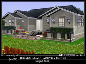 Sims 3 — Mobile Mini Activity Center by trin3032 — What every trailer park needs - a swinging hangout for fitness,