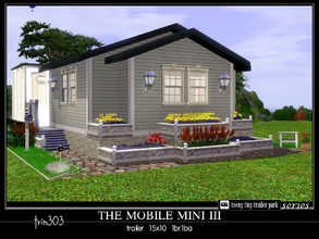 Sims 3 — Mobile Mini III by trin3032 — Small living for a new couple! The Mobile Mini III is a trailer home on a 15x10