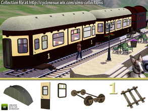 Sims 3 — Train Car Construction Set by Cyclonesue — Make your own train coaches with this construction set. Great for