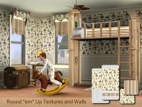 Sims 3 — Round em Up Wall and texture Set by cm_11778 — A cowboy themed wall and texture set for boys. This set is sure
