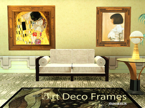Sims 3 — Art Deco Frames by ShinoKCR — A while ago I was asked to make Frames for my Art Deco Paintings by Gustav Klimt.