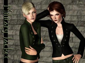 Sims 3 — Military Jacket by LuxySims3 — Military style jacket for your sims. 3 Channels - 3 Recolors.