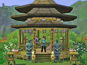 Sims 3 — Mini Academy by Wimmie — This Mini Academy is where Sims seeking Martial Arts training can go. A academy is good