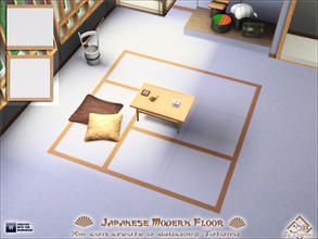 Sims 3 — Japanese Modern Floor by Devirose — Two tiles in a single file, ideal for creating a Japanese tatami, you do not