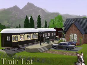 Sims 3 — The Cavendish Flier by Cyclonesue — Somebody left a very nice train behind at the station. Your Sims can move