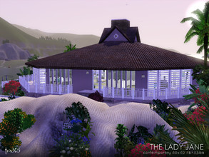 Sims 3 — The Lady Jane by trin3032 — Enjoy sea breeze elegance in this unique octagonal house! The Lady Jane is a