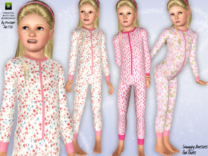 Sims 3 — Snuggly Onesies by minicart — These cute and snuggly onesies for girls are just the thing for keeping your Sims