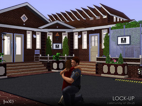 Sims 3 — Little Village Lock-up by trin3032 — Be good in your 'hood! Or pay your debt to society in this local police