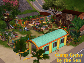 Sims 3 — Camp Gypsy by the Sea by Satureja2 —