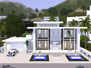 Sims 3 — Waterford by mrsimulator — Waterford is a small stunning modern and contemporary style home with white interior