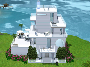 Sims 3 — Future Tense, Simfunkel Island by littleredcookbook2 — (2B+1Ba) A two-bedroom, four-story modern home for the