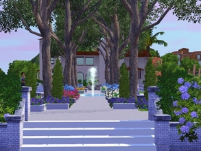Sims 3 — Now That's a Park! by maureen36902 — Big park in a small park space. Great for placement in the center of town.