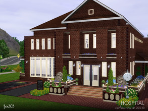 Sims 3 — Little Village Hospital by trin3032 — A smaller hospital for your smaller town, but still packed full of