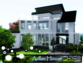 Sims 3 — Adler House by Ineliz — Adler House is a great place for a small family, where your kids can run around a green