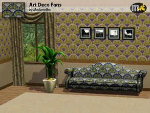 Sims 3 — Pattern_MBee_ArtDecFans by MadameBee — I like a vintage look, especially for my Sims living in Roaring Heights.
