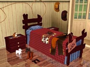 Sims 3 — Winchester Bedroom by Flovv — Did you ever think of having a cowboy themed room? Now it's time for it! Not only