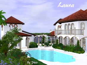 Sims 3 — Laura (Base game)  by philo — Freely inspired by EA store Villa Paraiso, this confortable house will give your