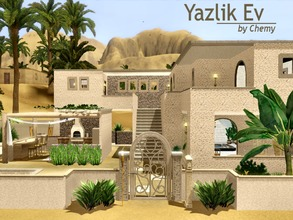 Sims 3 — Yazlik Ev ~ Summer Home by chemy — This house fully takes advantage of the hot summers in the Al Simhara Desert