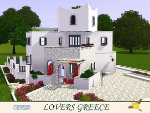 Sims 3 — evi Lovers Greece by evi — A typical Greek Aegean house designed and built for love and romance. One bedroom and