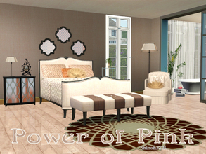 Sims 3 — Bedroom Power of Pink by ShinoKCR — Starting a new series with kind of pink objects. The classic Bedroom