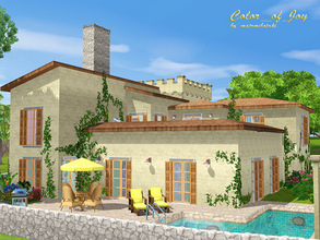 Sims 3 — Color_of_Joy by matomibotaki — A house like a breeze of summer and freedom, time to relaxe and to have fun. Your