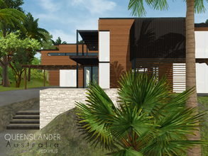 Sims 3 — Queenslander by peskimus — A sturdy house built from steel and wood in the heart of Queensland's dense tropical