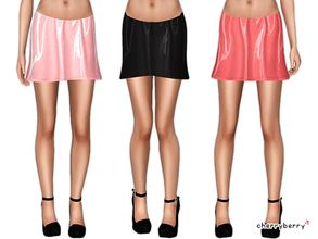 Sims 3 — Vinyl party skirt by CherryBerrySim — Fabulous vinyl skirt for parties! Looks great in pink colors or simple
