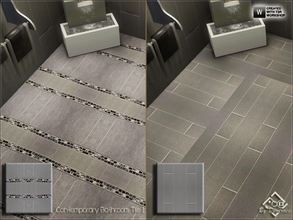 Sims 3 — Contemporary Bathroom Tile 1 by Devirose — Two tiles inside.Elegant and chic, ideal for bathrooms and modern