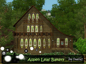 Sims 3 — Aspen Leaf Bakery by Ineliz — Just like mama used to make! At Aspen Leaf Bakery, your sims can find a variety of