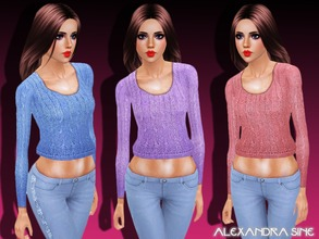 Sims 3 — Winter Weather Knit Top by Alexandra_Sine — Winter Weather Knit Top for your young-adult and adult female sims.