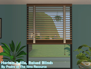 Sims 2 — Harlem II - Blinds 2-tile Raised by Padre — More Mid Century style items for your cool mid-century sims