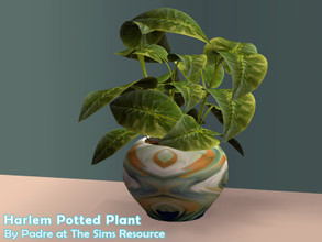 Sims 2 — Harlem II - Curly Planter by Padre — More Mid Century style items for your cool mid-century sims