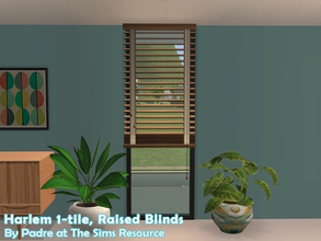 Sims 2 — Harlem II - Blinds 1-tile Raised by Padre — More Mid Century style items for your cool mid-century sims